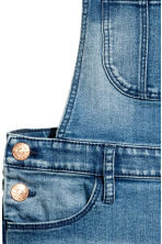Salopette corta in denim - Blu denim -  | H&M IT 4