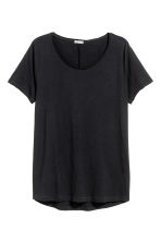 Raw-edge T-shirt - Black - Men | H&M 3