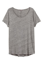 Raw-edge T-shirt - Grey marl - Men | H&M 2