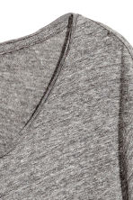 Raw-edge T-shirt - Grey marl - Men | H&M 3