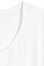 Raw-edge T-shirt - White - Men | H&M CN 3