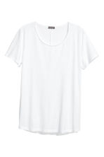 Raw-edge T-shirt - White - Men | H&M CN 2