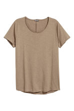 Raw-edge T-shirt - Mole - Men | H&M CN 2