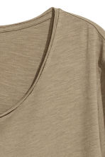 Raw-edge T-shirt - Khaki beige - Men | H&M CN 3