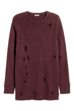 Rib-knit jumper - Burgundy - Men | H&M 2