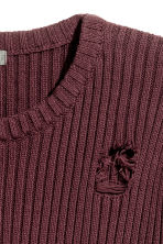 Rib-knit jumper - Burgundy - Men | H&M 3