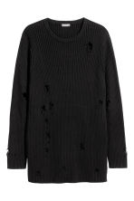 Rib-knit jumper - Black - Men | H&M 2