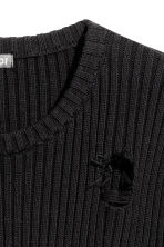 Rib-knit jumper - Black - Men | H&M CN 3