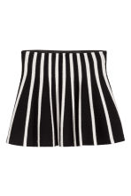 Fine-knit skirt - Black/White/Striped - Kids | H&M CN 2