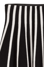 Fine-knit skirt - Black/White/Striped - Kids | H&M CN 3