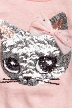 Sequined jumper - Light pink/Cat - Kids | H&M 3