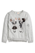 Sequined jumper - Grey/Mice - Kids | H&M 2