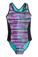 Sports swimsuit - Black/Pink - Kids | H&M CN 1