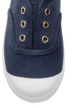 Cotton canvas trainers - Dark blue - Kids | H&M 3
