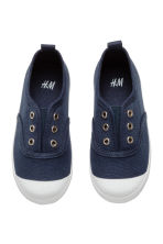 Cotton canvas trainers - Dark blue - Kids | H&M 2