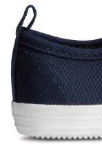 Cotton canvas trainers - Dark blue - Kids | H&M 4