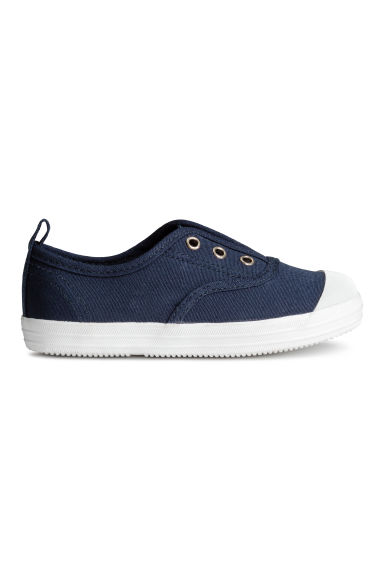 Cotton canvas trainers - Dark blue - Kids | H&M 1