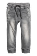 Denim joggers - Grey washed out -  | H&M 2
