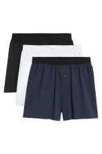 3-pack boxer shorts - Black/White/Blue - Men | H&M 2