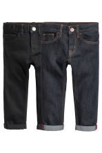 2-pack Slim Jeans - Dark denim blue/Black - Kids | H&M CN 2