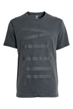 Printed sports top - Dark grey marl - Men | H&M CN 2