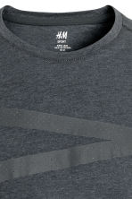 Printed sports top - Dark grey marl - Men | H&M CN 3