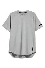 Short-sleeved sports top - Grey marl - Men | H&M CN 2