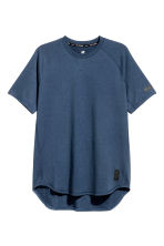 Short-sleeved sports top - Dark blue marl - Men | H&M 2