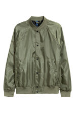 Baseball jacket - Khaki green - Men | H&M CN 2