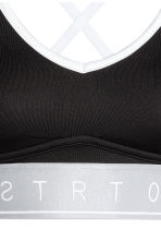 Sports bra Medium support - Black/Silver - Ladies | H&M CN 3
