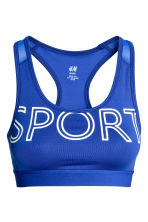 Sports bra Medium support - Blue - Ladies | H&M CN 2