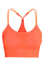Sports bra Low support - Neon coral - Ladies | H&M CN 2