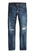 Slim Low Jeans - Blu denim chiaro/Trashed - UOMO | H&M IT 2