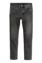Slim Low Jeans - Black washed out -  | H&M 2