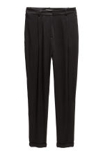 Satin trousers - Black -  | H&M 2