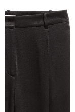 Satin trousers - Black -  | H&M 4