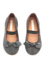 Suede shoes - Dark grey -  | H&M 2