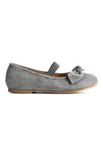 Suede shoes - Dark grey -  | H&M 3