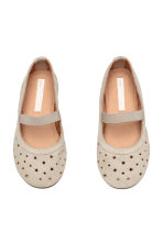 Suede shoes - Light beige - Kids | H&M 2