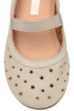 Suede shoes - Light beige - Kids | H&M 4