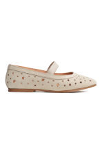 Suede shoes - Light beige - Kids | H&M 3