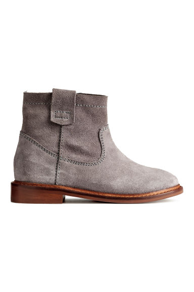 Suede ankle boots - Dark grey - Kids | H&M 1