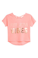 Sports top - Light neon pink marl - Kids | H&M CN 2