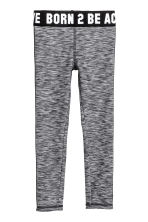 Sports tights - Black marl - Kids | H&M 2