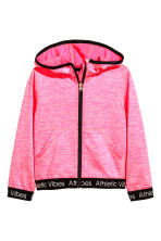 Sports jacket with a hood - Neon pink marl - Kids | H&M CN 2