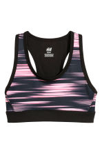 Sports top - Black/Neon pink - Kids | H&M 1