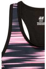 Sports top - Black/Neon pink - Kids | H&M 3