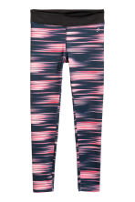 Sports tights - Black/Neon pink - Kids | H&M CN 2
