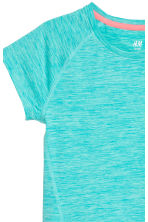 Short-sleeved sports top - Turquoise marl - Kids | H&M 3