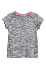 Short-sleeved sports top - Dark grey marl - Kids | H&M 2